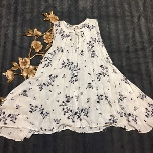 Free People Tent Style Floral Print Top Size S